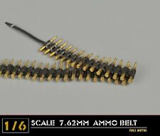 1/6 Scale Figure Toy 7.62mm AMMO BELT Metal Bullet Chain  F Machine Gun Model