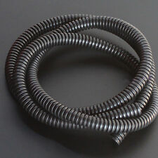 "50' Feet 1/4"" Black Split Loom Wire Flexible Tubing Conduit Hose Cover"