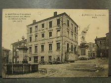 cpa 07 saint martin de valamas monument aux morts hotel de ville