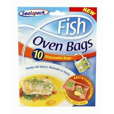 New Sealapack Fish Oven Disposable Bags 10 Marinade Or Herbs Locks in Flavour