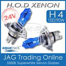 24V HOD XENON H4 100/90W 5500K SUPERWHITE HEADLIGHT TRUCK/BUS WHITE BULBS/GLOBES