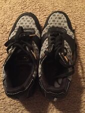 USED 310 Motoring Sneakers Men Size 8.5 Black Gray Shoes Rare Luxury Feet Rich