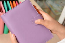 A6 Med-size Personal Organizer Planner Diary Lavender purple Free Protector