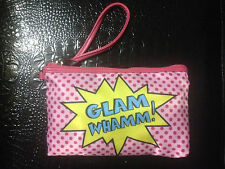 GLAMM WHAMM WRISTLET/MAKE UP CASE PINK ! SUPER CUTE BNWT