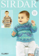 Knitting Pattern Sirdar 4767 Flurry Baby & Boys Sweater