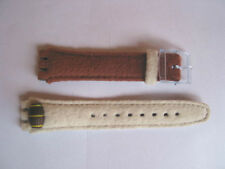 SWATCH+GENT++AGN152 BARRY++Lederband+17mm Band+NEU/NEW