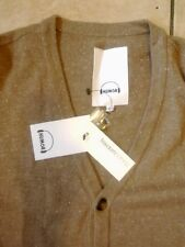 Humor Men's v neck, button front camel cardigan at size XL.New!