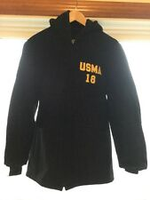 West Point USMA 18 Black Zip Hooded Wool Jacket, size 40R