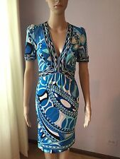 Most Wanted Emilio Pucci Blue Print Dress Size IT -40
