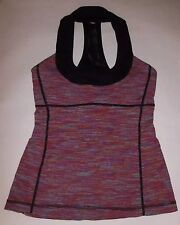 LULULEMON SCOOP NECK TANK TOP WEE ARE FROM SPACE MARCH MULTI YOGA SPIN size 4