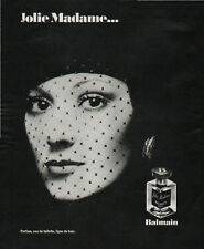 Publicité Advertising 1970 parfum jolie Madame ... balmain