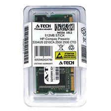 512MB SODIMM HP Compaq Presario 2204US 2210CA 2500 2500 CTO 2500AP Ram Memory