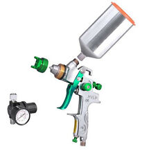 1.4mm HVLP Gravity Feed SPRAY GUN w/ REGULATOR Metal Flake Auto Paint NEWPrimer