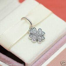 New! Authentic Pandora Lucky In Love Clover 791309CZ Wife Gift Charm w Box