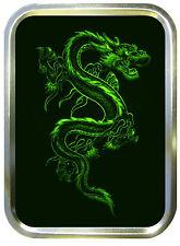 GREEN DRAGON  2oz GOLD TOBACCO TIN,PILLTIN,STASH CAN,BACCY TIN,BAIT TIN