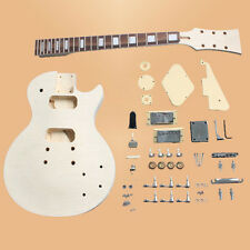 DIY PROJECT ELECTRIC GUITAR BUILDER KIT LP STYLE FLAMED MAPLE TOP BASSWOOD KIT