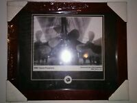 2006  FRAMED RMS TITANIC PROPELLERS PHOTO with  Recovered coal 1994 Expedition