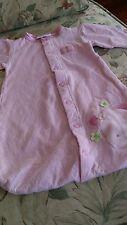 Newborn baby girl long sleeved pink sleeping bag dressing gown one piece
