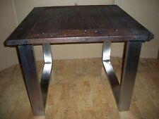 Massif altholz table avec pieds en acier inoxydable 100 x100 cm Gutmann Factory