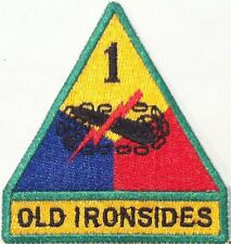 Army 1st Armored Division Military OLD IRONSIDES Emblem  Iron On Path