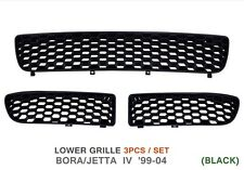 VW BORA HONEYCOMB BUMPER GRILLE MESH COVERS GTi STYLE ALL BLACK RARE - 3 PC SET