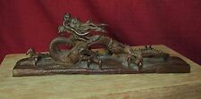 Rare and Unusual Japanese or Chinese Bronze Dragon Signed