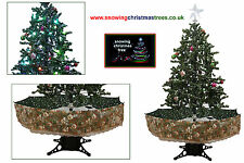 Snowing Christmas Tree 1.7 M | Green Umrealla Base | Beautiful Patterned Skirt