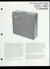 Rare Original Factory Yamaha G50-410 Guitar Amplifier Dealer Sheet Page
