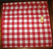 Red & White Buffalo Checked Reversible to Gingham Check Placemat Set of 4 Cotton