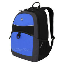 NEW Swiss Gear Swiss Army Knife Maker Black/Blue Tablet Bag School Backpack