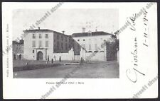 NOVARA SUNO 14 PALAZZO CAVALLI VOLI Cartolina VIAGGIATA 1904