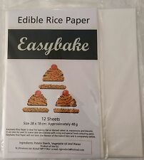 12 Edible White Rice Paper Wafer Paper Sheets for Printing and Cake Decorating