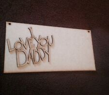 Wooden Plaque  Fathers Day Gift Blank Mdf 3 Mm Thick