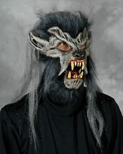 Gray Werewolf Wolf Wolfman Night crawler Latex Halloween Mask Moving Mouth