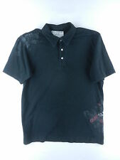 Quick Silver Black Polo / Button Front 100% Cotton MENS Size L Large J3JAF