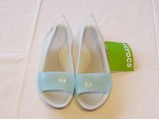 Crocs Colorblock Flat seafoam pearl white standard fit Womens W 6 200032-476