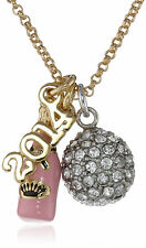 JUICY COUTURE New Year's 2014 Bottle Fireball Cluster Charm Necklace w/Gift Box