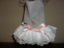 Gray and Eyelet Lace female dog dress sz small (s). US seller.