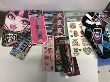 Monster High Birthday Party lot favors plates stickers gloss tattoos socks dracu