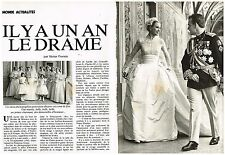 Coupure de presse Clipping 1983 (8 pages) Grace Kelly il y a un an le drame