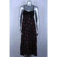 Free People NEW Multi Black Printed Spaghetti Strap Maxi Dress Sz S $128.00 LAFO