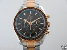 Omega Speedmaster Broad Arrow 1957 Chronograph 18K Rose Gold & Stainless Steel