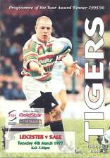 LEICESTER v SALE 4 Mar 1997 RUGBY PROGRAMME