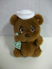 1983 Mattel Emotions Boo Hoo Hoo Crying Sailor Bear Plush Stuffed Toy 9""