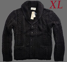 NEW Ralph Lauren Denim & Supply Washed Black Cable Knit Shawl Cardigan MENS XL