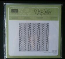 New STAMPIN UP Cable Knit Din TEXTURED EMBOSSING FOLDER Winter, Coat, Background