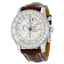 Breitling Navitimer World Automatic Silver Dial Mens Watch A2432212-G571BRCT
