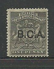 Album Treasures British Central Africa Scott # 1  1p Rhodesia Overprint MH