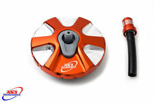 KTM SX SX-F 2007-2012 EXC EXC-F 07-16 ALLOY FUEL PETROL CAP WITH BREATHER ORANGE