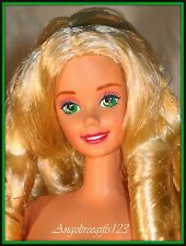 Gorgeous curly Blonde hair Barbie straight white legs super star face sculpt